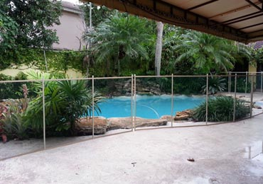 Black/Beige Pool Fence